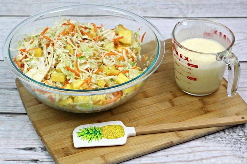 Pineapple Coleslaw Process