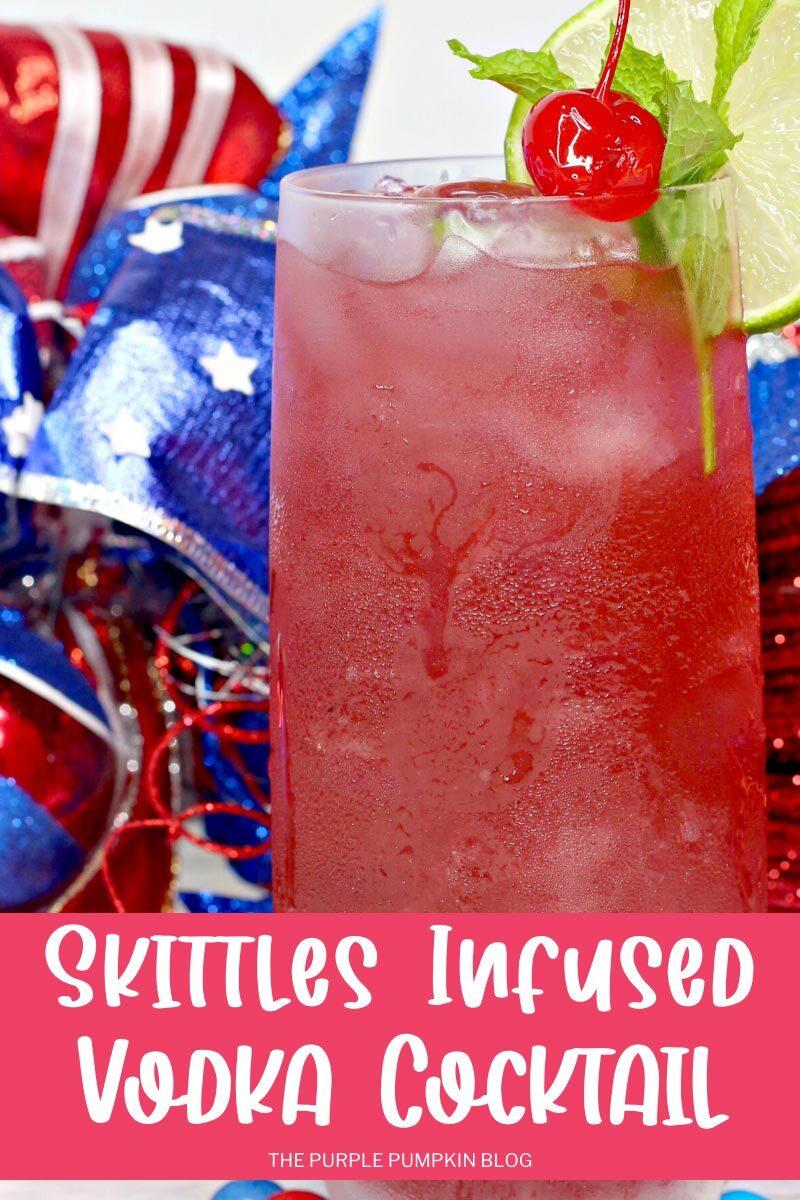 Skittles-Infused Vodka Cocktail
