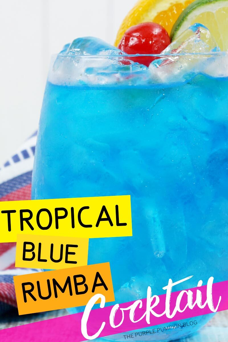 Tropical Blue Rumba Cocktail