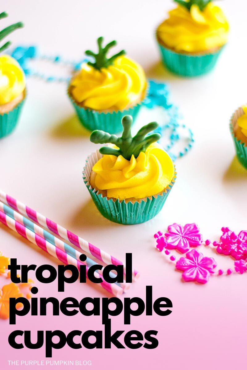 Tropical Pineapple Cupcakes