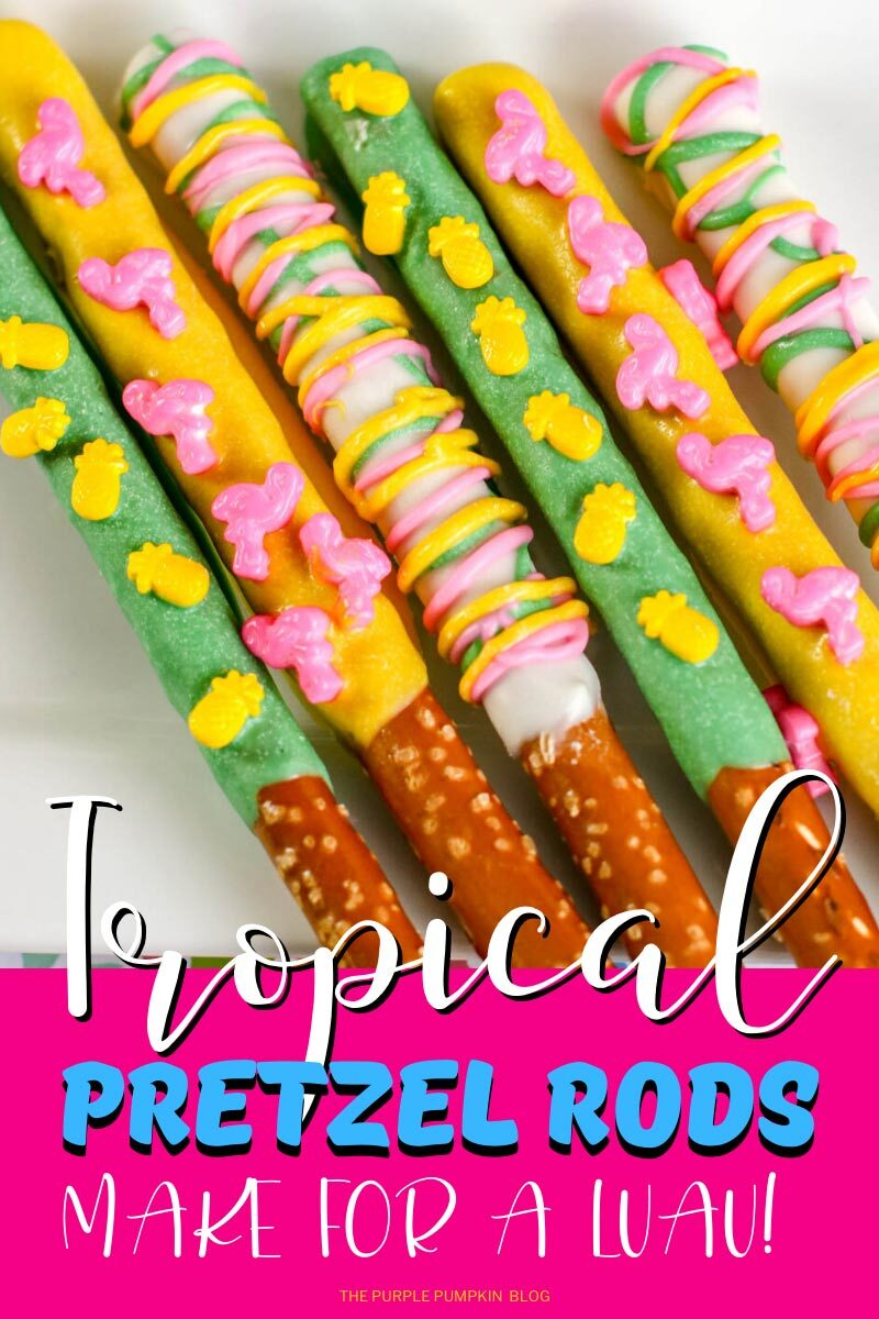 Tropical Pretzel Rods - Make for a Luau!