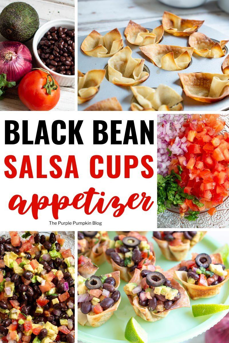 Black Bean Salsa Cups Appetizer