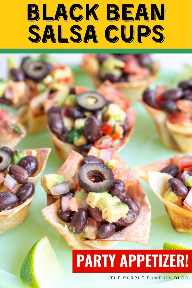 Black Bean Salsa Cups Party Appetizer!