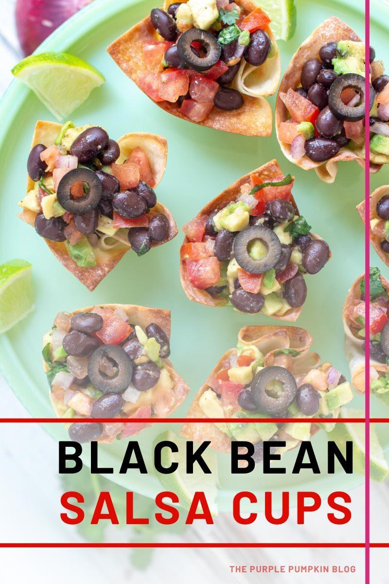 Black Beans Salsa Cups