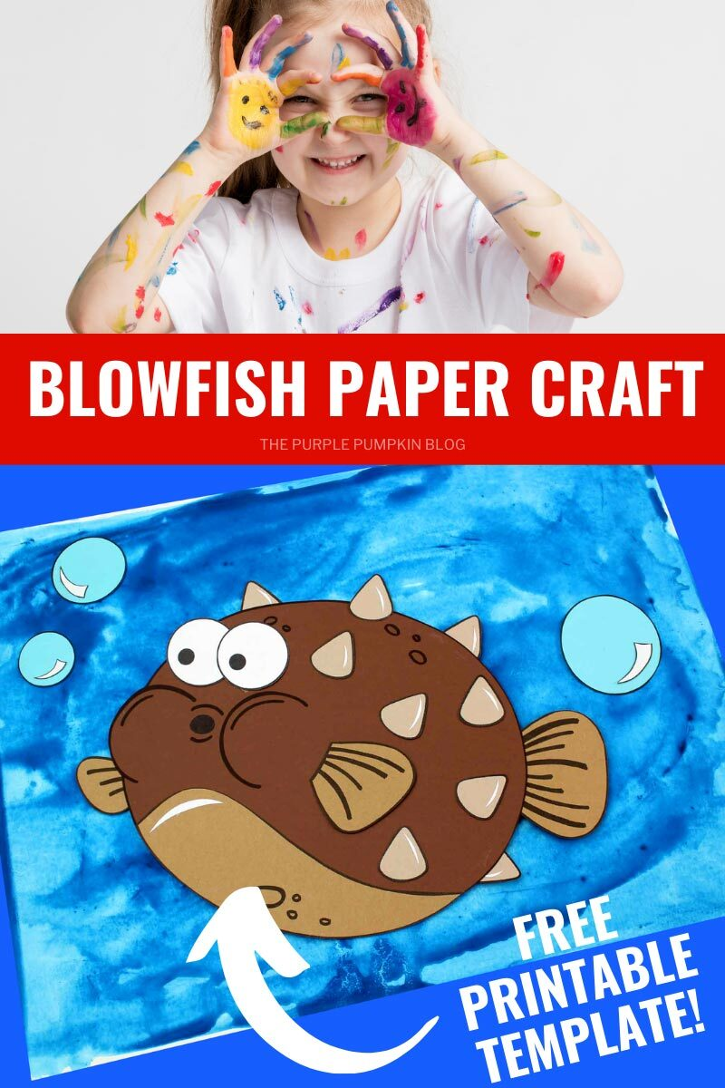 Blowfish Paper Craft - Free Printable Template