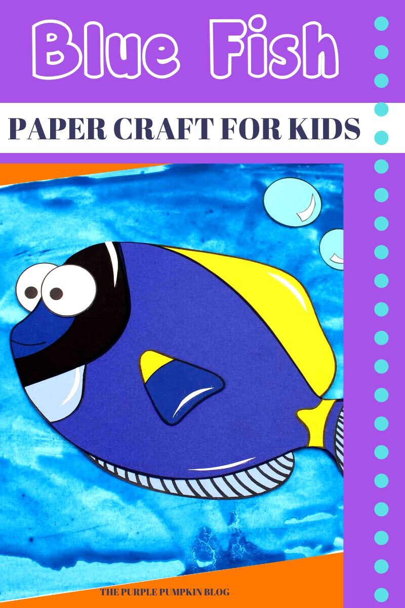 Blue Fish Paper Craft for Kids