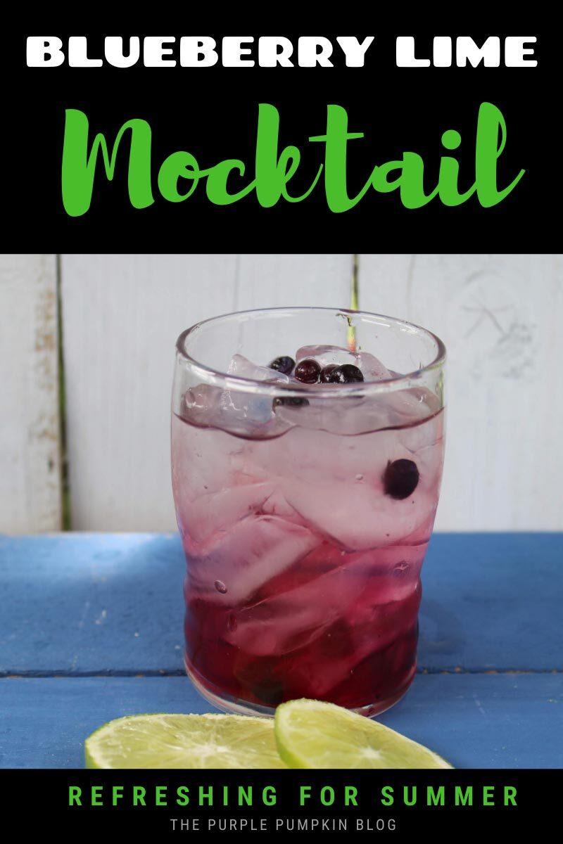 Blueberry Lime Mocktail Refreshing for Summer