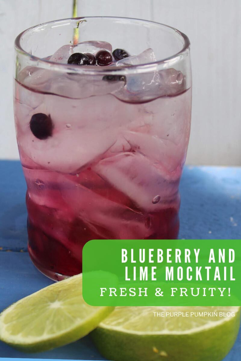 Blueberry and Lime Mocktail - Fresh & Fruity