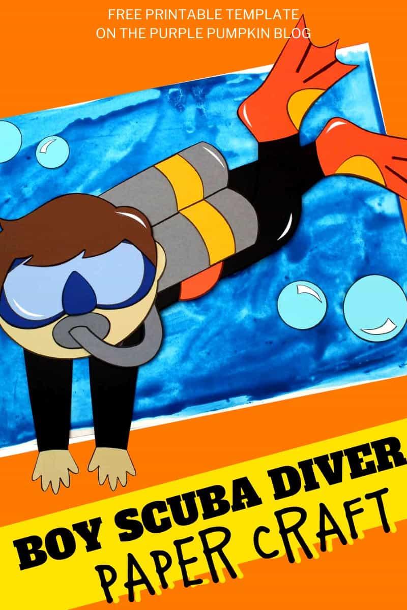 Boy-Scuba-Diver-Paper-Craft
