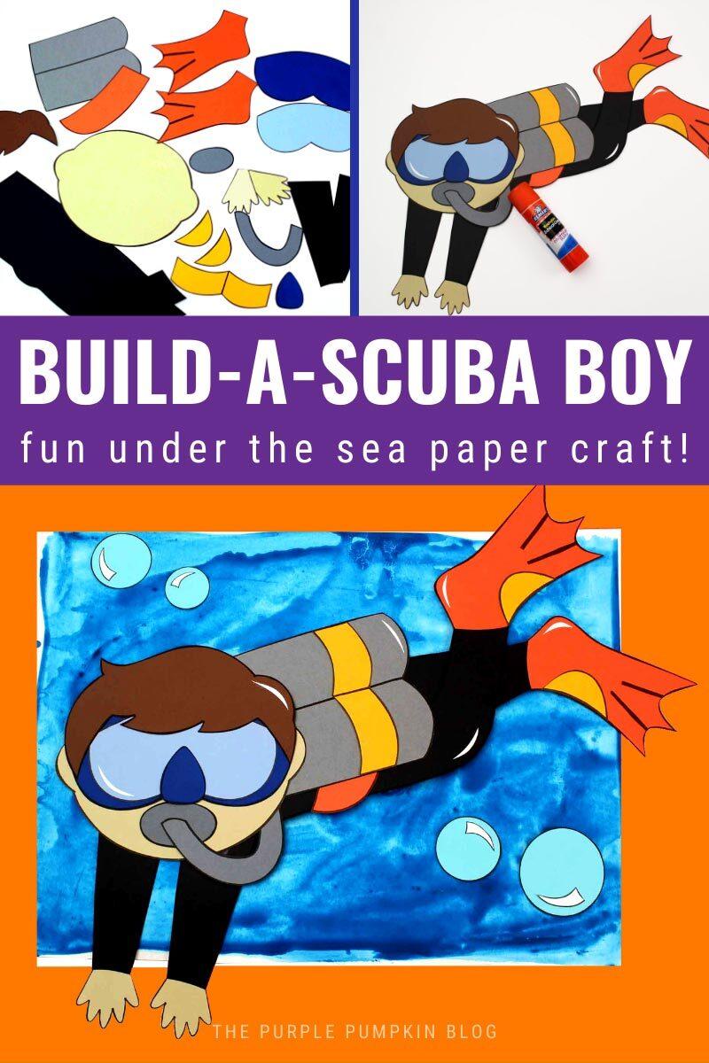 Build a Scuba Boy - Fun Under the Sea Paper Craft