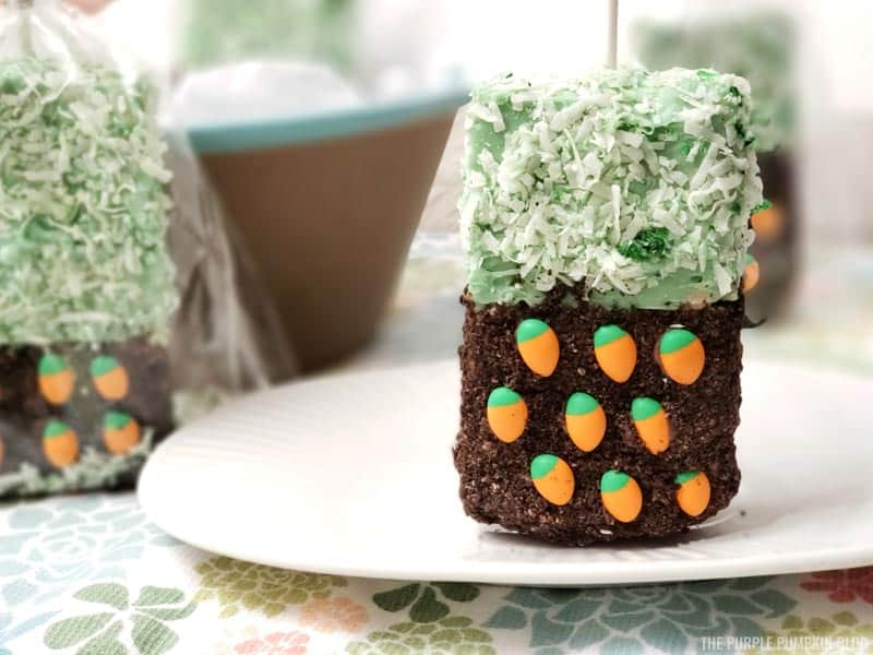 Carrot Patch Spring Rice Krispies Treat