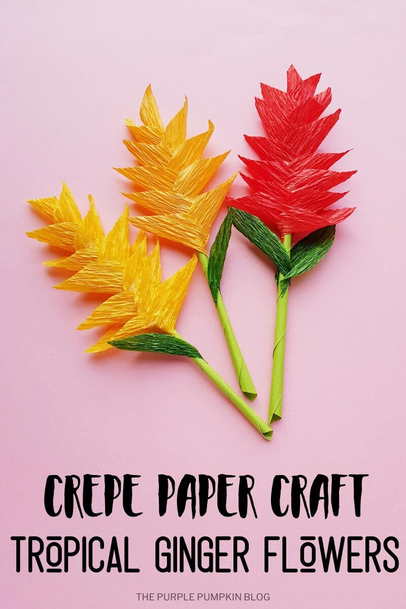 Crepe Paper Craft - Tropical Ginger Flowers