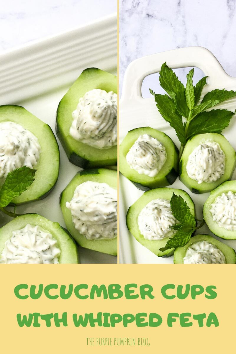 Cucumber Cups with Whipped Feta