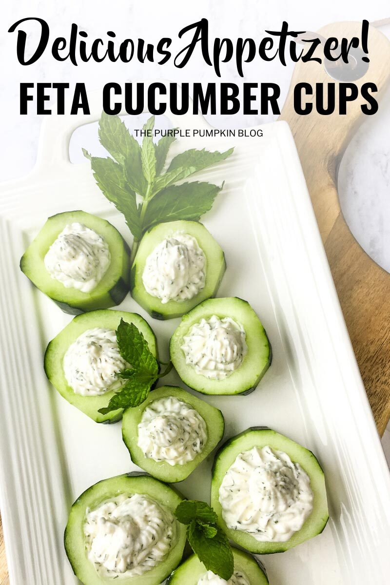 Delicious Appetizer! Feta Cucumber Cups