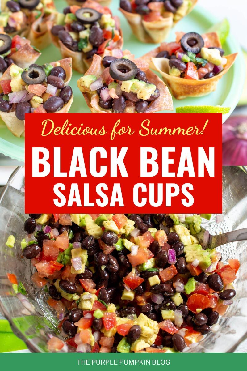 Delicious for Summer! Black Bean Salsa Cups
