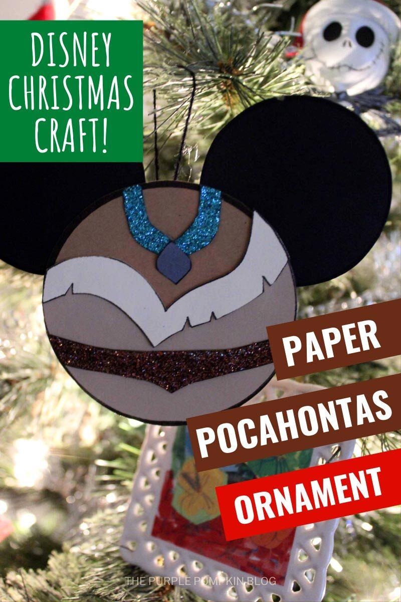 Disney Christmas Craft - Paper Pocahontas Ornament