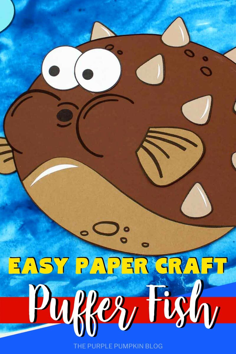 Easy Paper Craft Puffer Fish