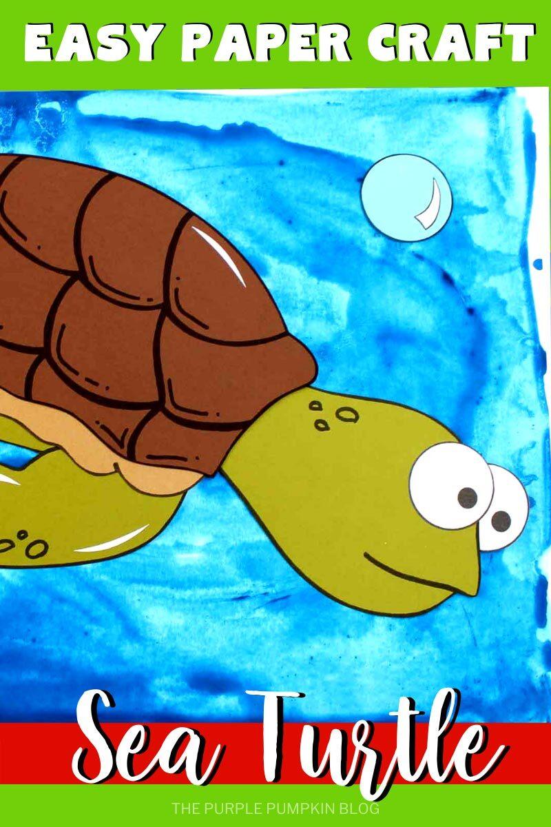Easy Paper Craft Sea Turtle