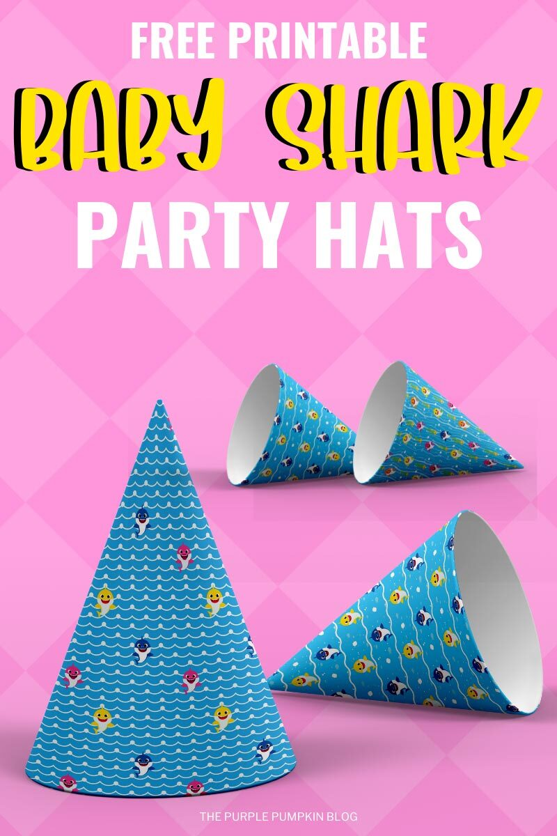 Baby Shark Party Hats