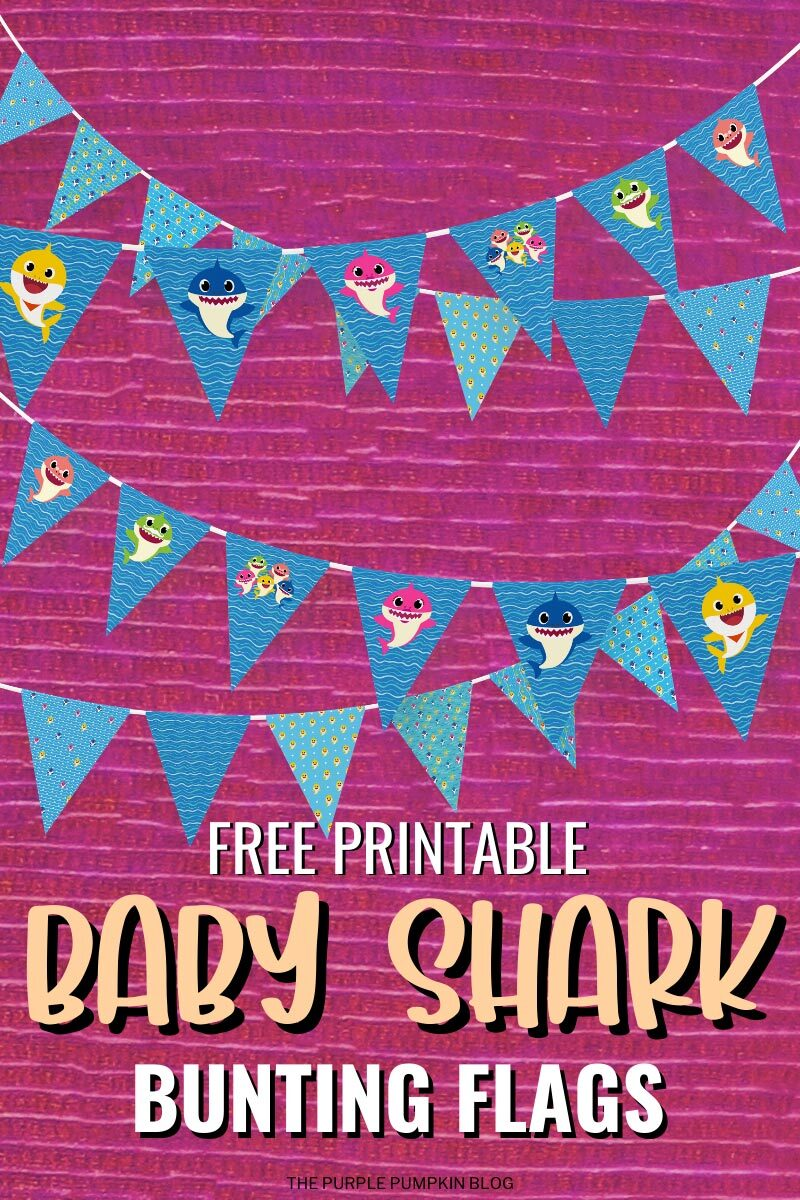 Baby Shark Bunting Flags