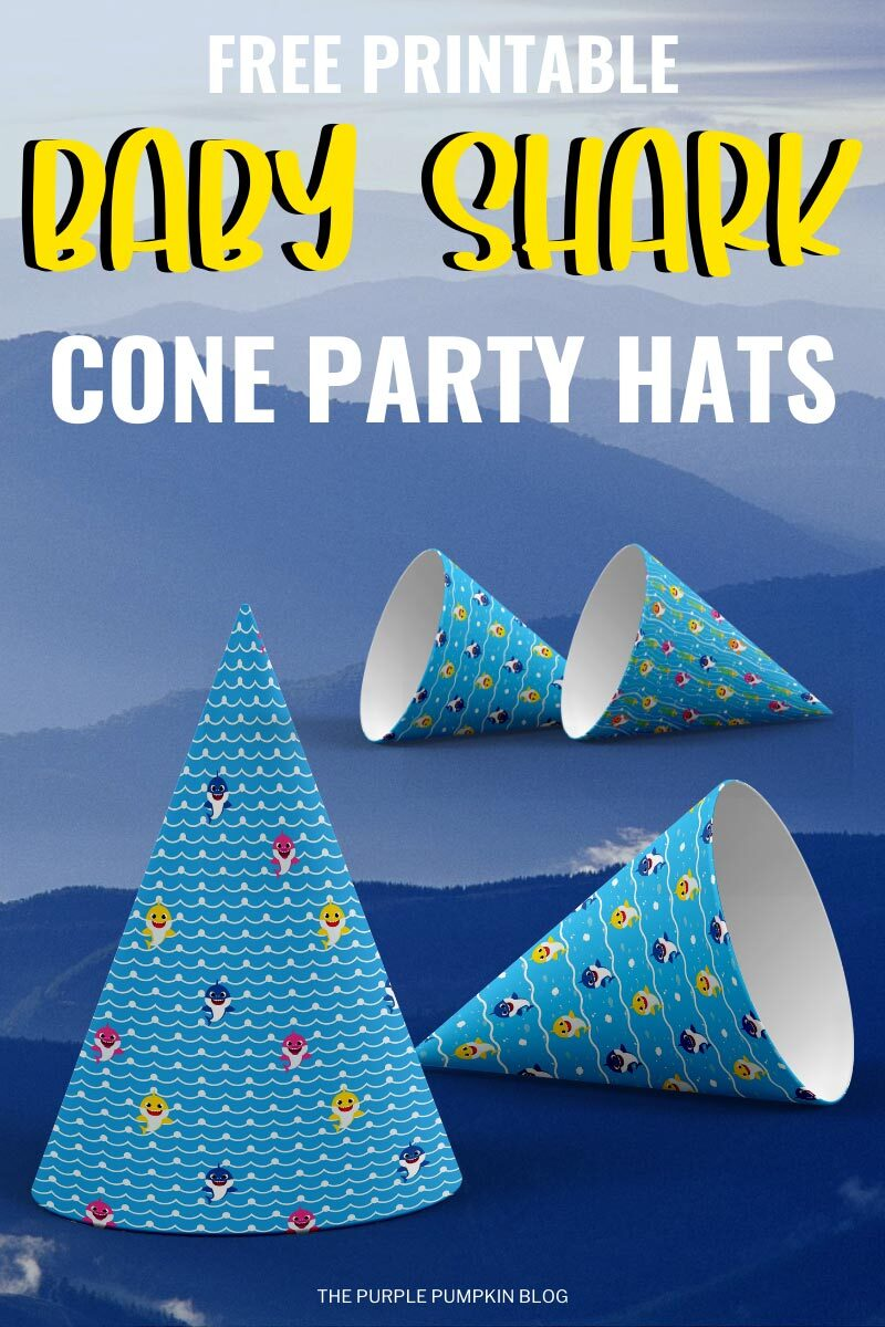 Free Printable Baby Shark Paper Hats