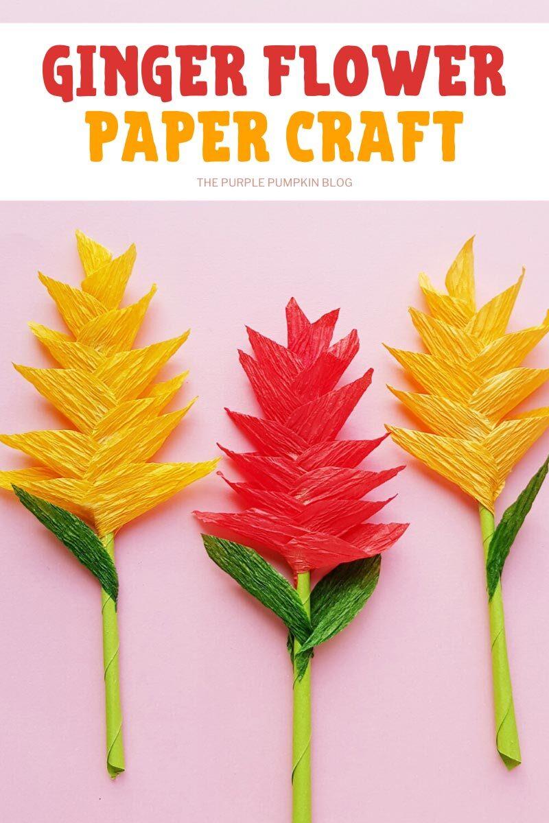 Ginger Flower Paper Craft