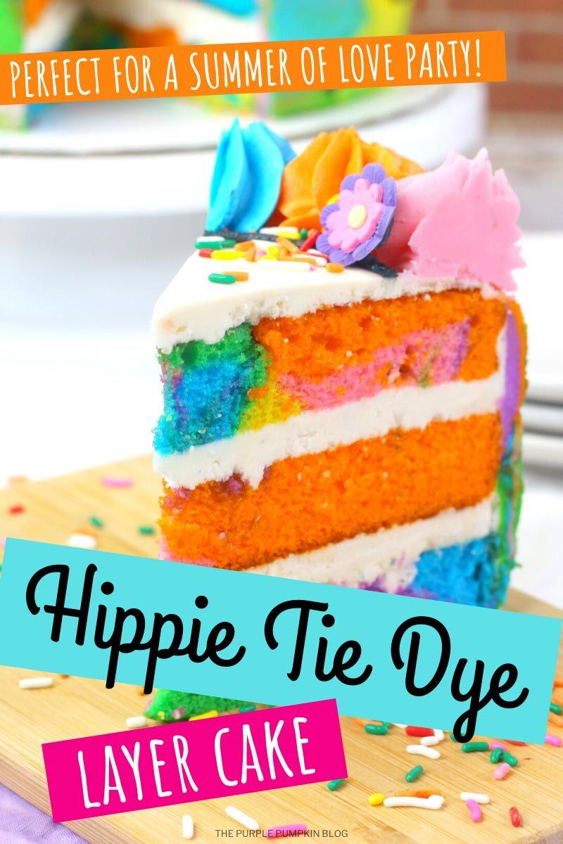 Hippie Tie Dye Layer Cake - Perfect for a Summer of Love Party!
