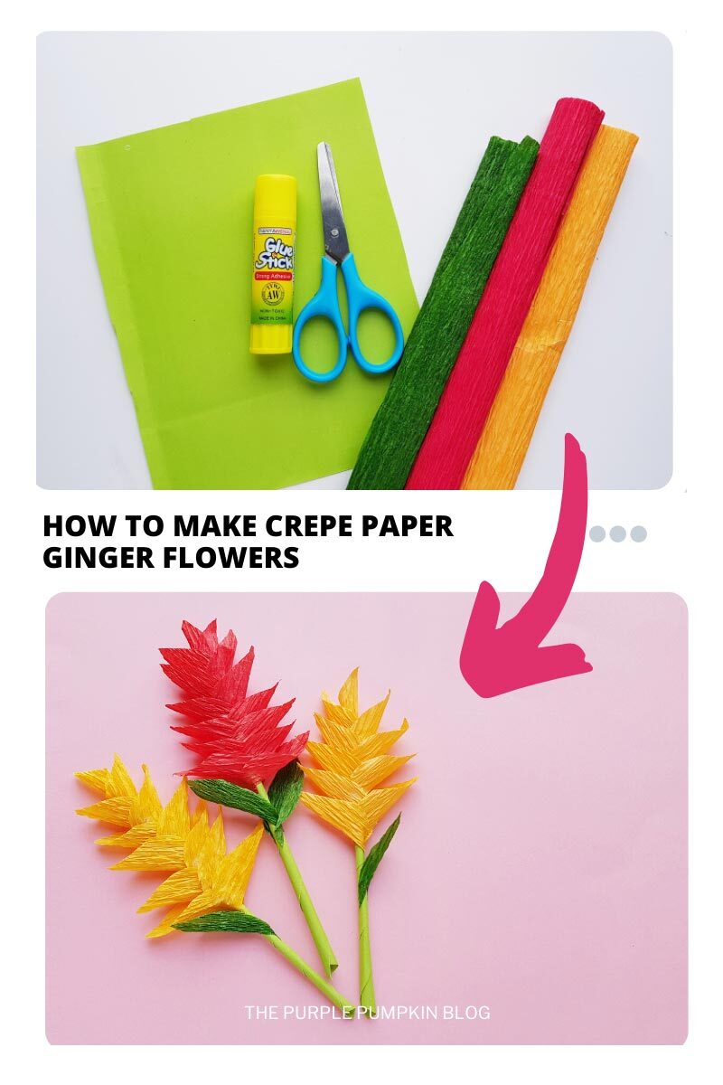 How To Make Crepe Paper Ginger Flowers