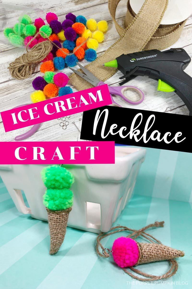 Ice Cream Necklace Craft