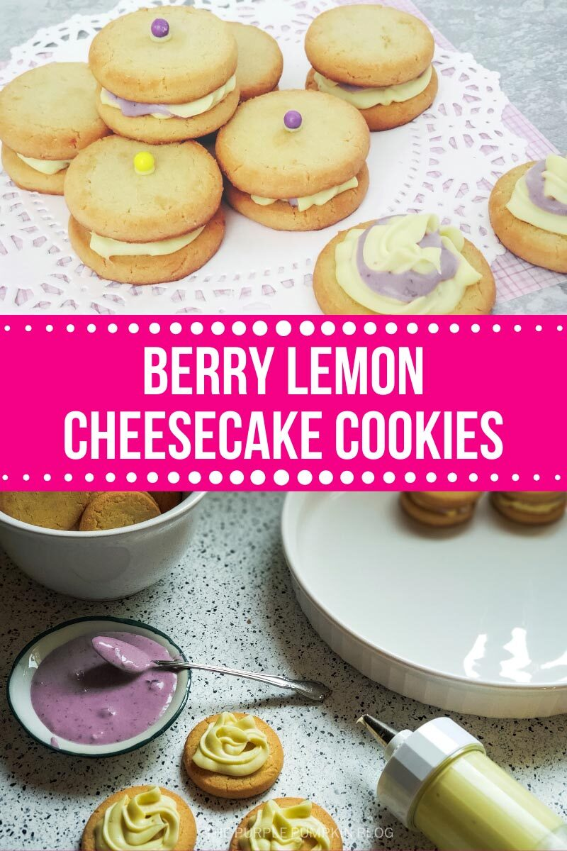 Berry Lemon Cheesecake Cookies