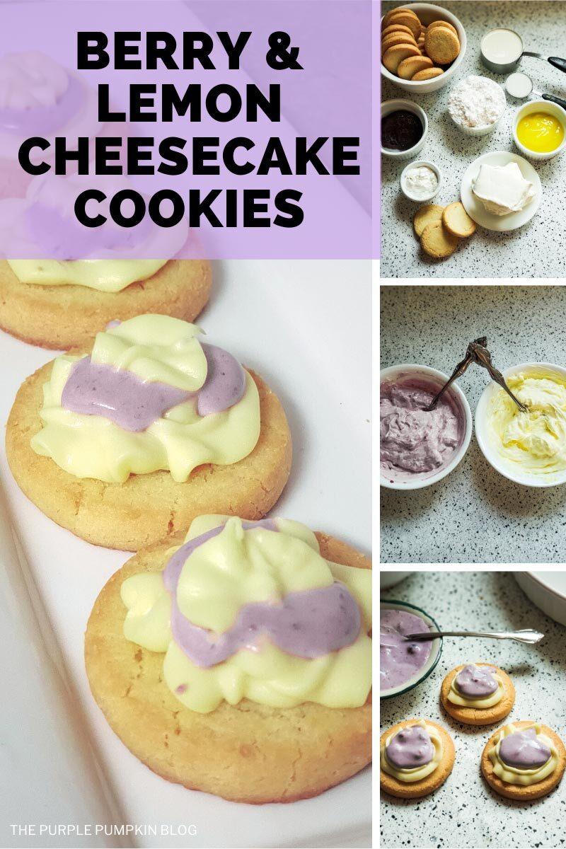 Berry & Lemon Cheesecake Cookies