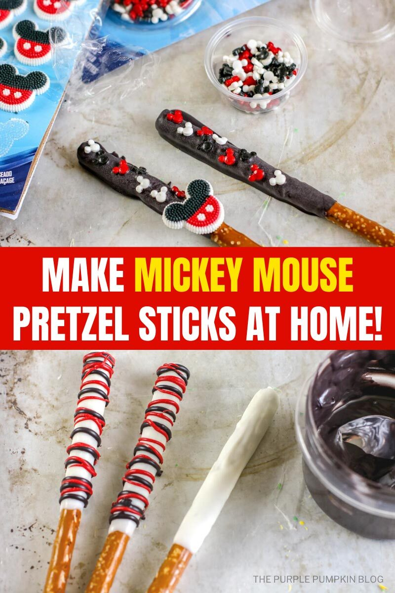 Make Mickey Mouse Pretzel Sticks at Home!