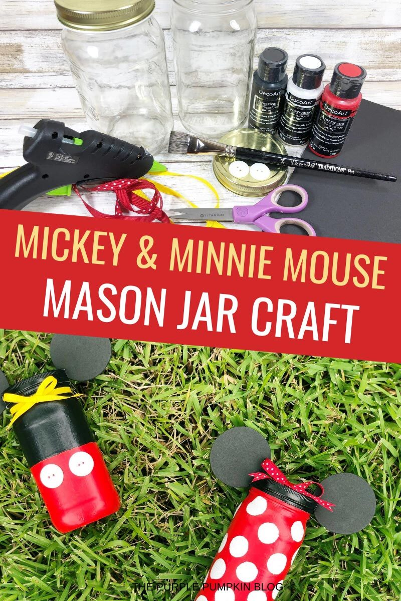 Mickey & Minnie Mouse Mason Jar Craft