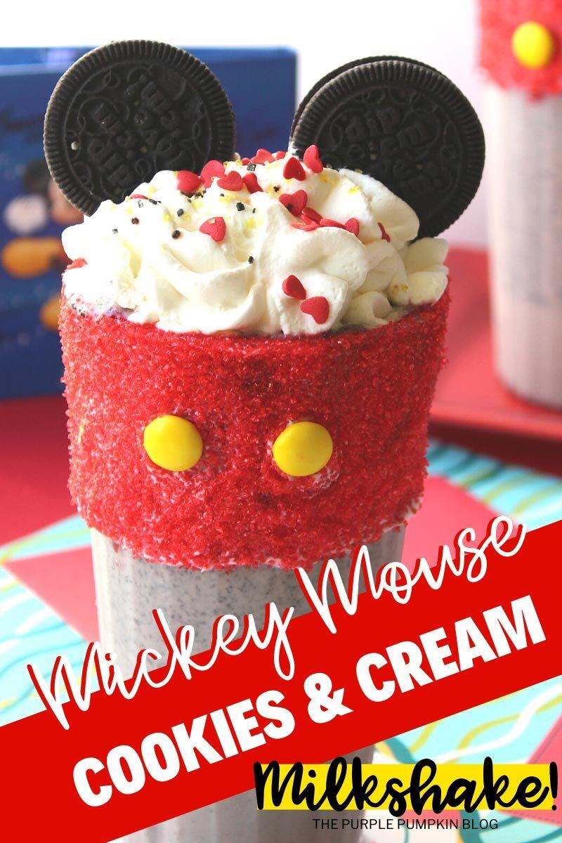 Mickey Mouse Cookies & Cream Milkshake
