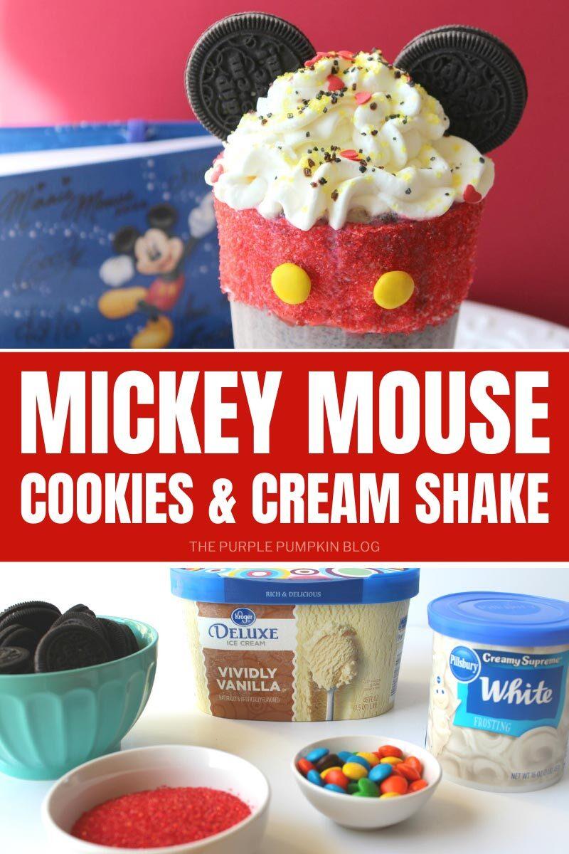Mickey Mouse Cookies & Cream Shake