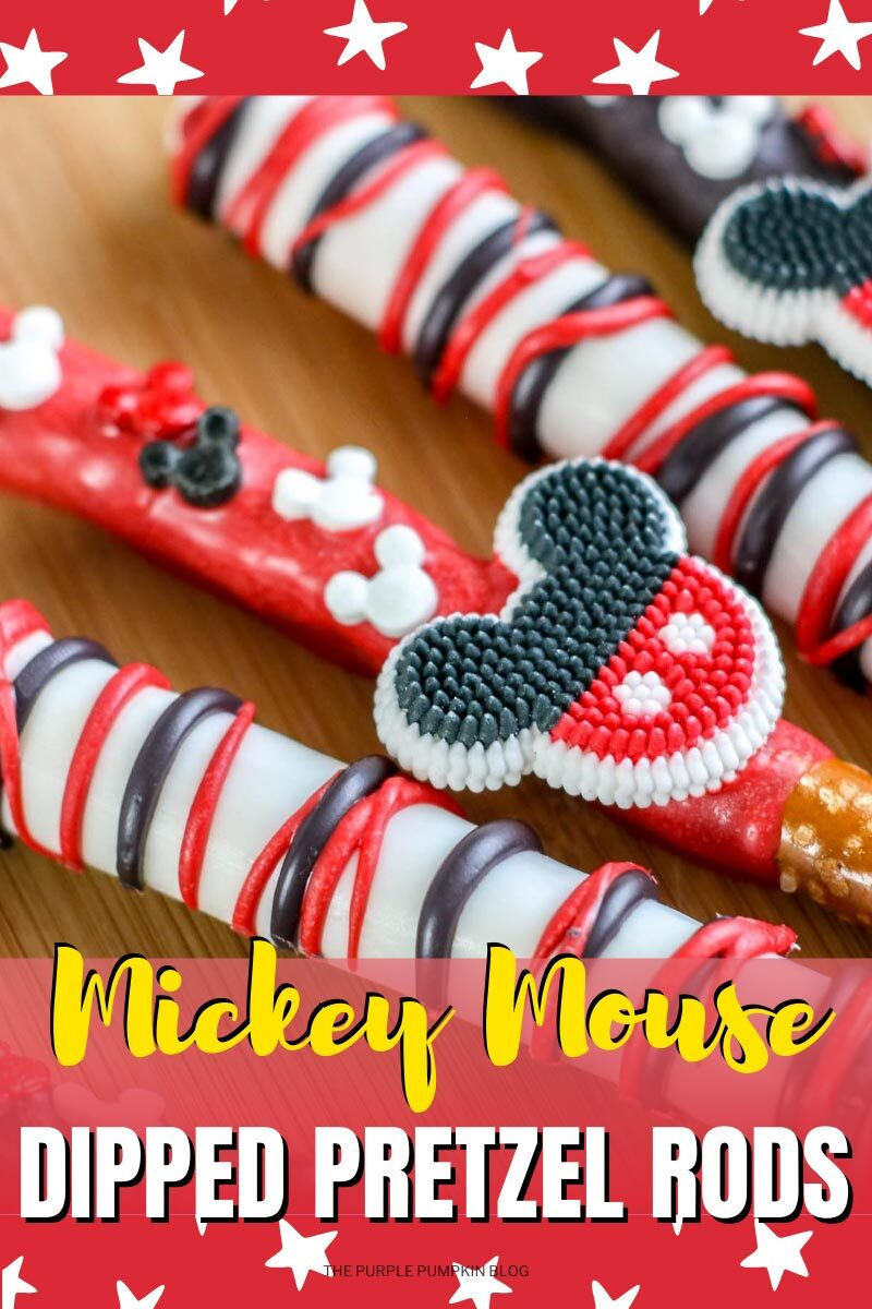 Mickey Mouse Dipped Pretzel Rods