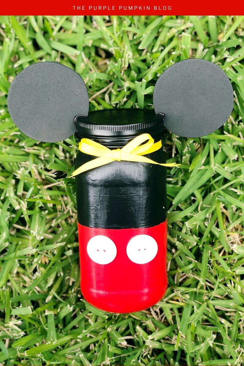 Mickey Mouse Mason Jar Craft Idea
