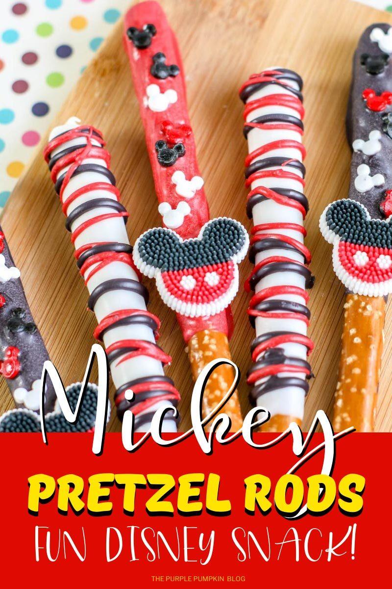 Mickey Mouse Pretzel Rods - Fun Disney Snack!