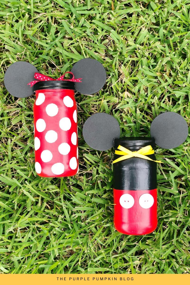Minnie & Mickey Mason Jars Craft
