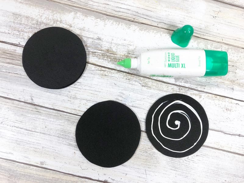 sticking foam circles together