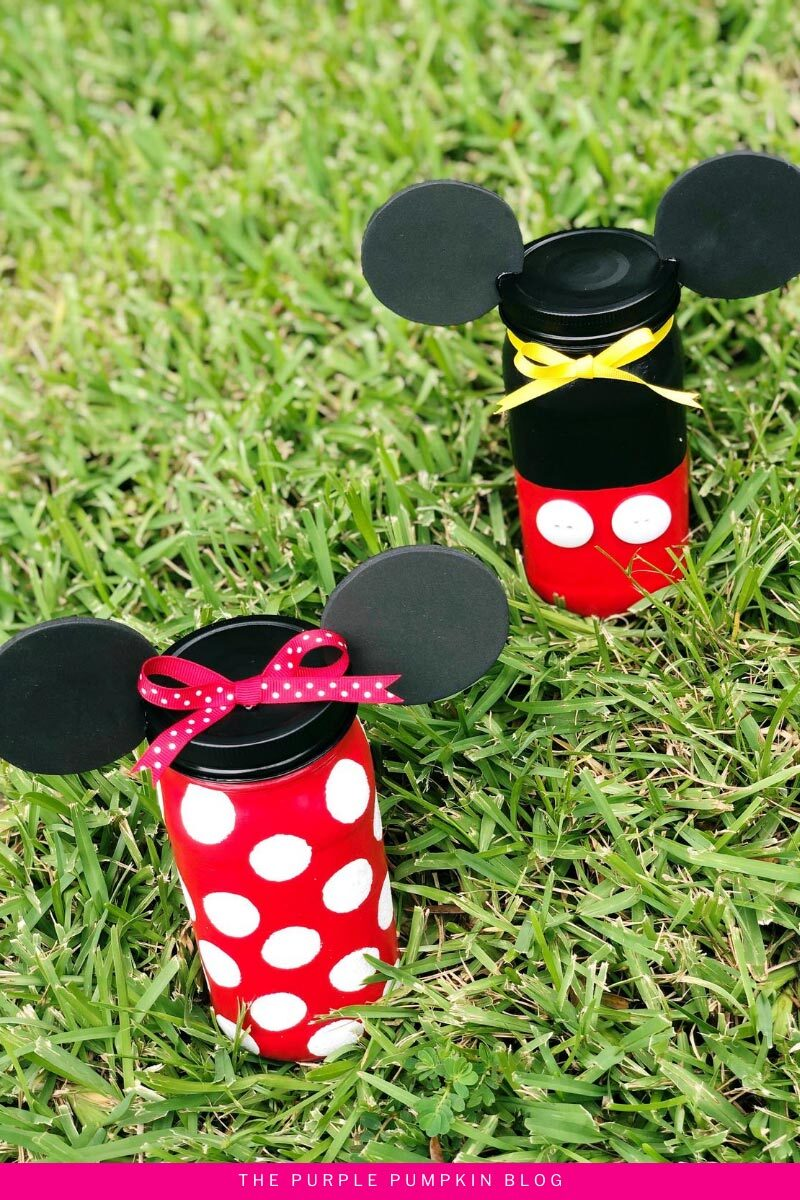 Minnie and Mickey Jar Craft