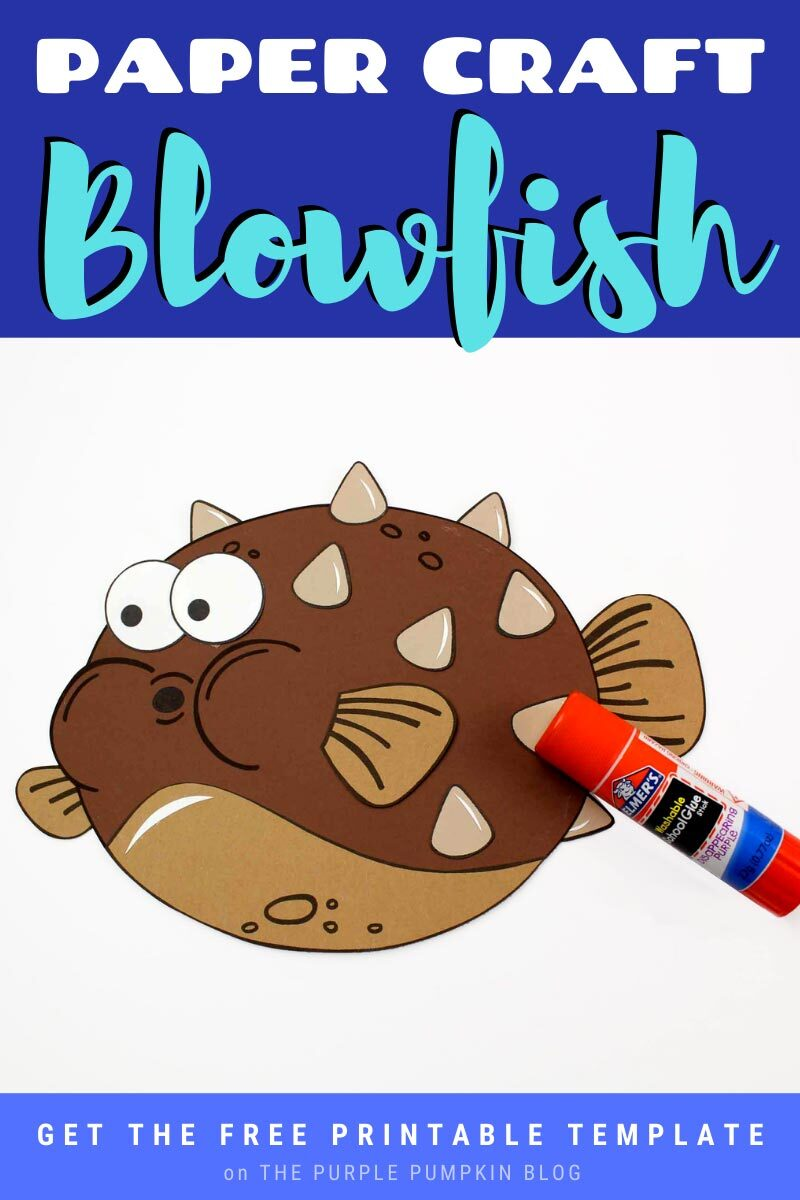 Paper Craft Blowfish with Free Printable Template