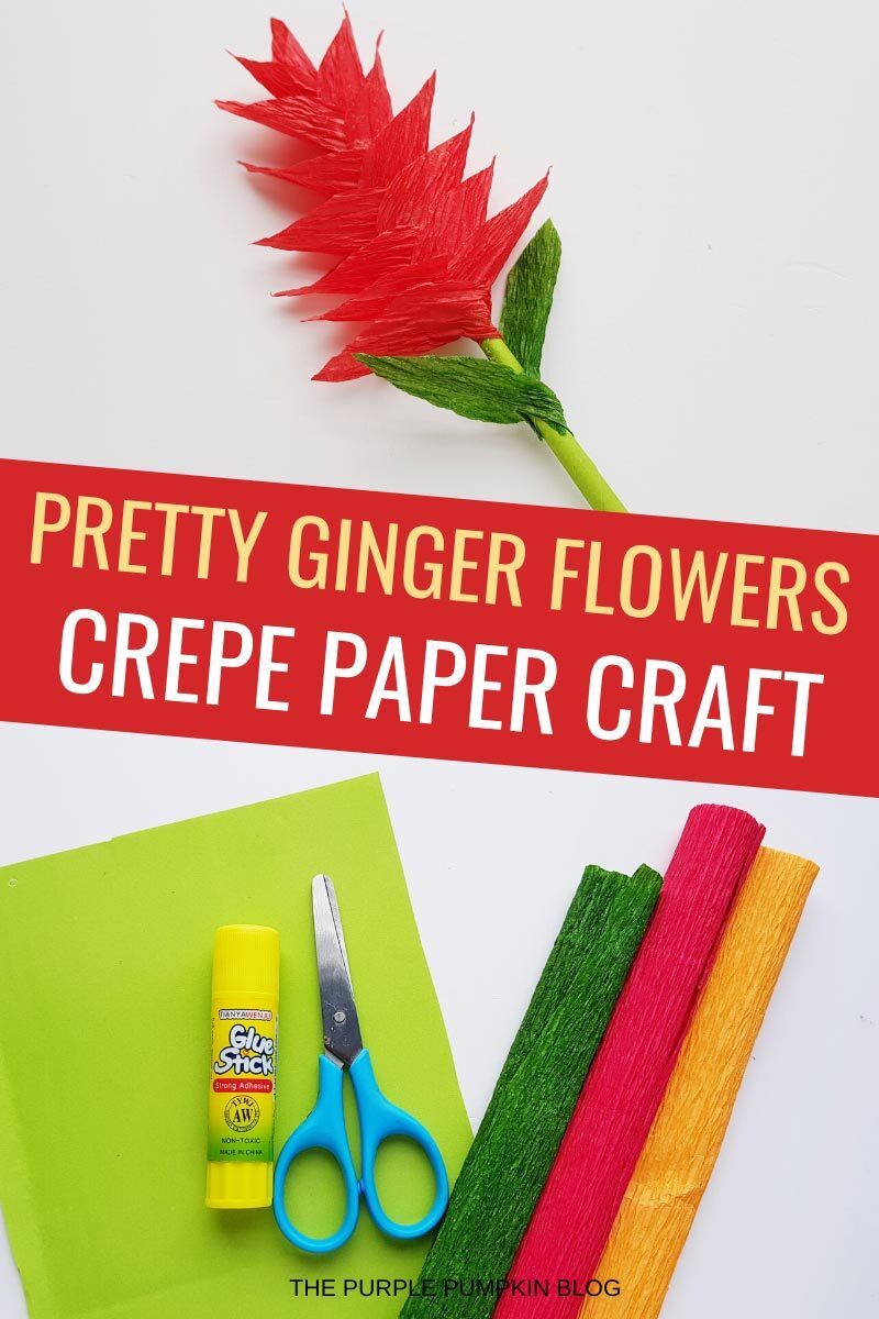 Pretty Ginger Flowers - Crepe Paper Craft