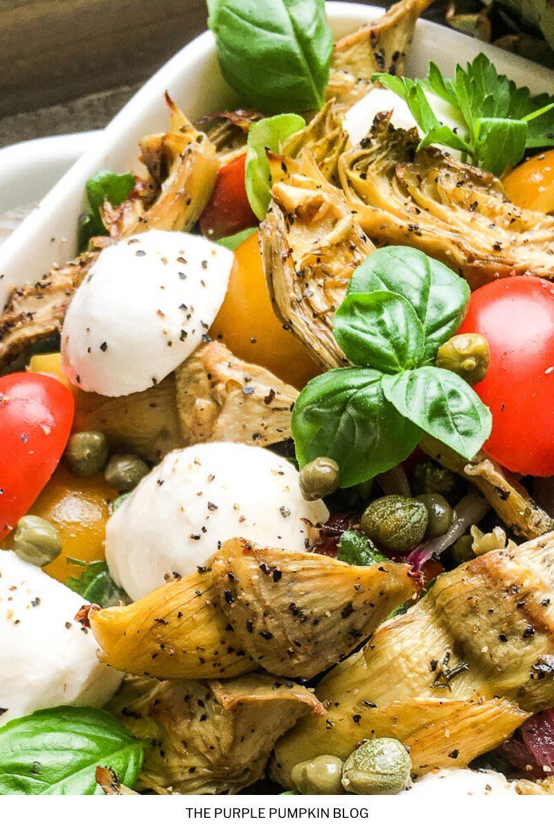 Roasted Artichoke & Mozzarella Salad