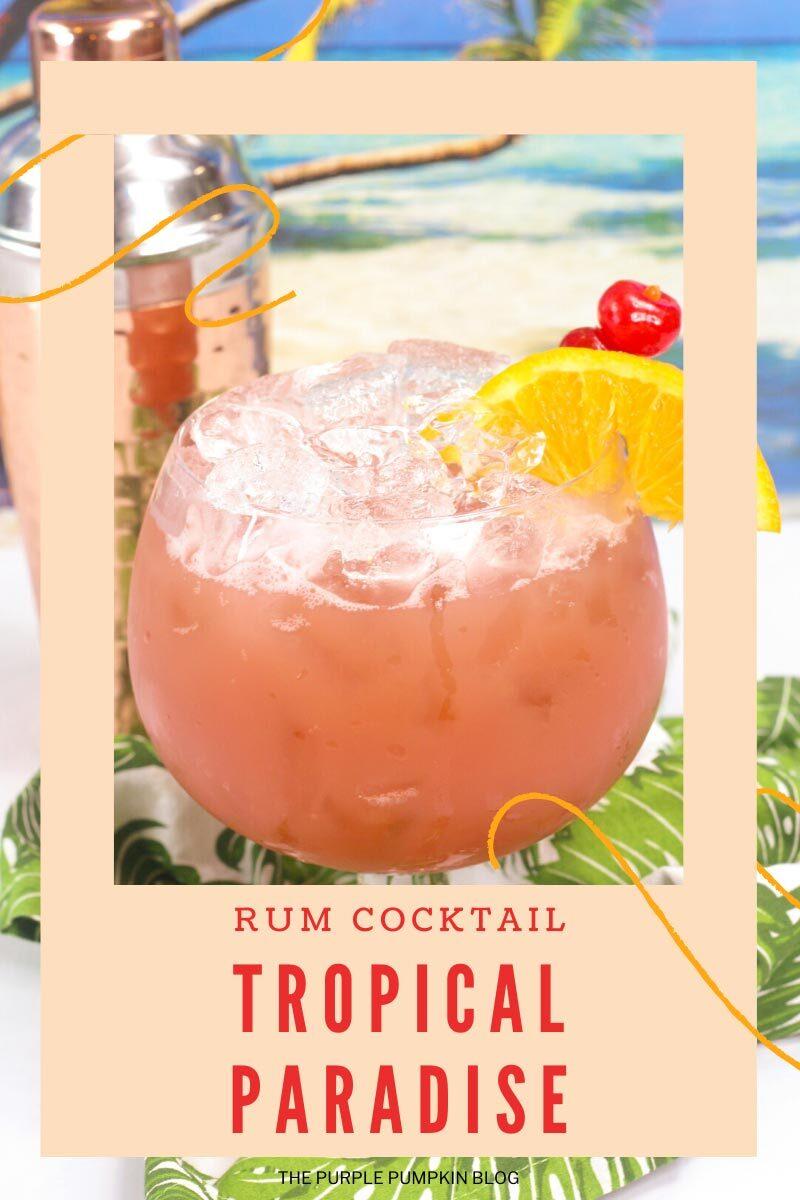 Rum Cocktail Tropical Paradise