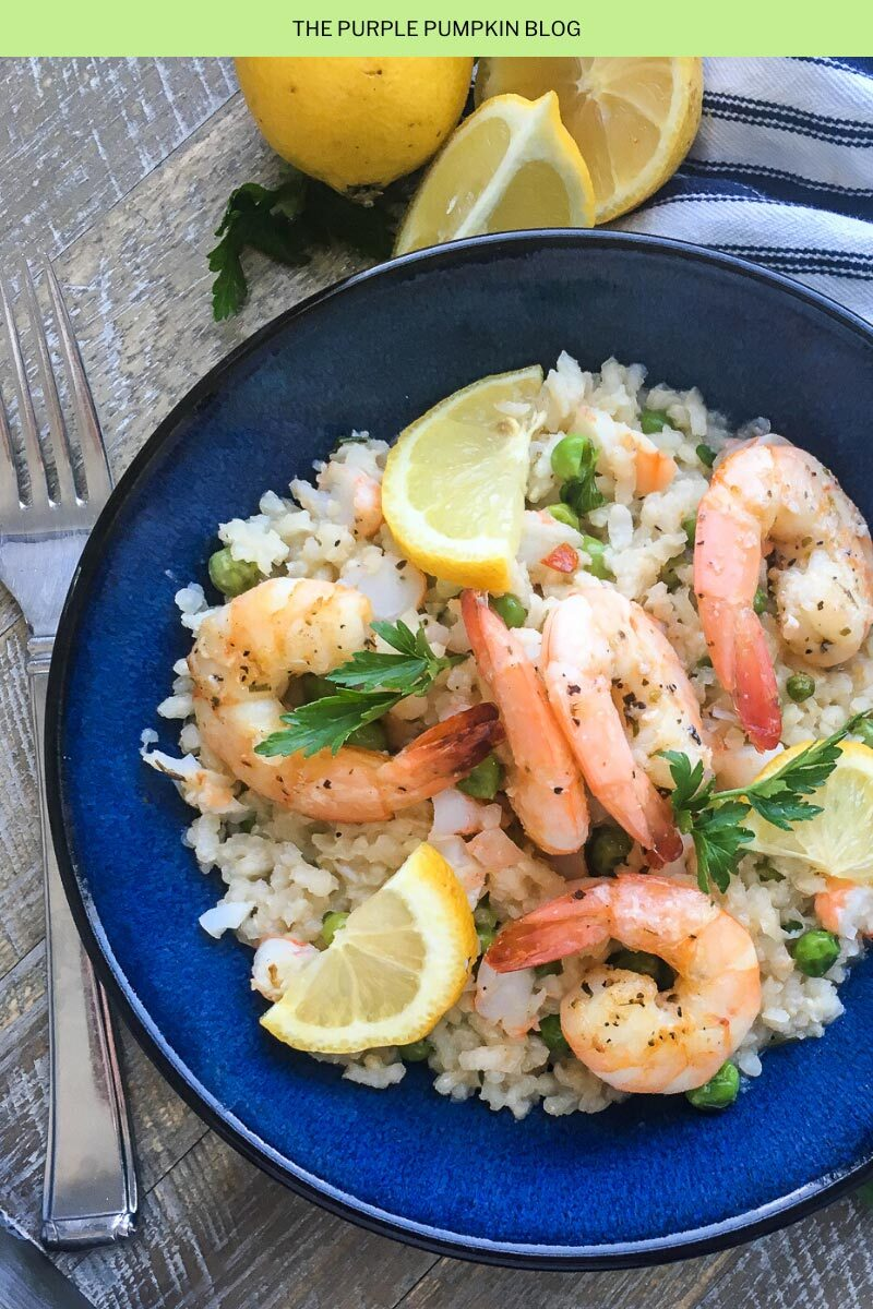 Shrimp and Peas Risotto