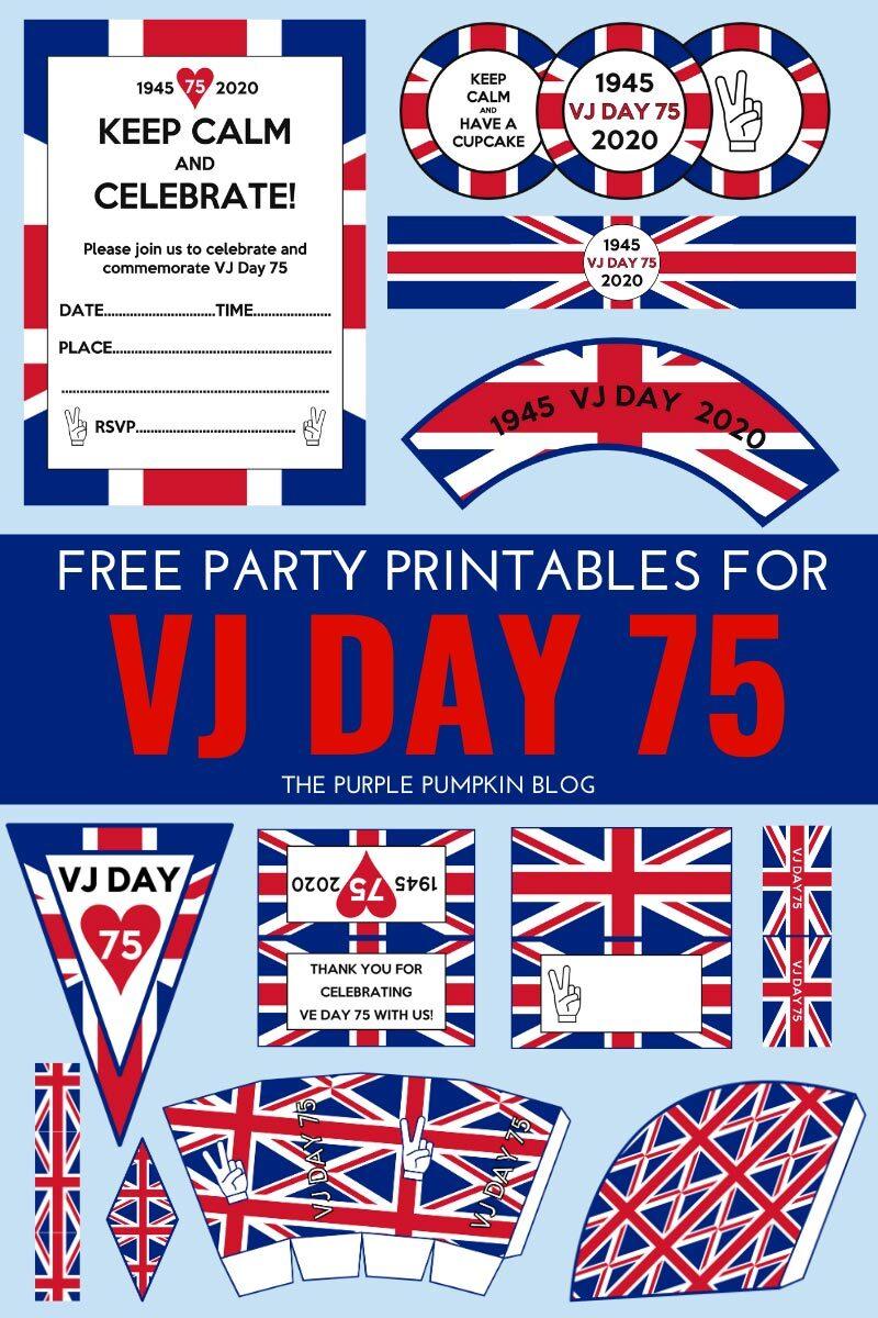 Free VJ Day Printables