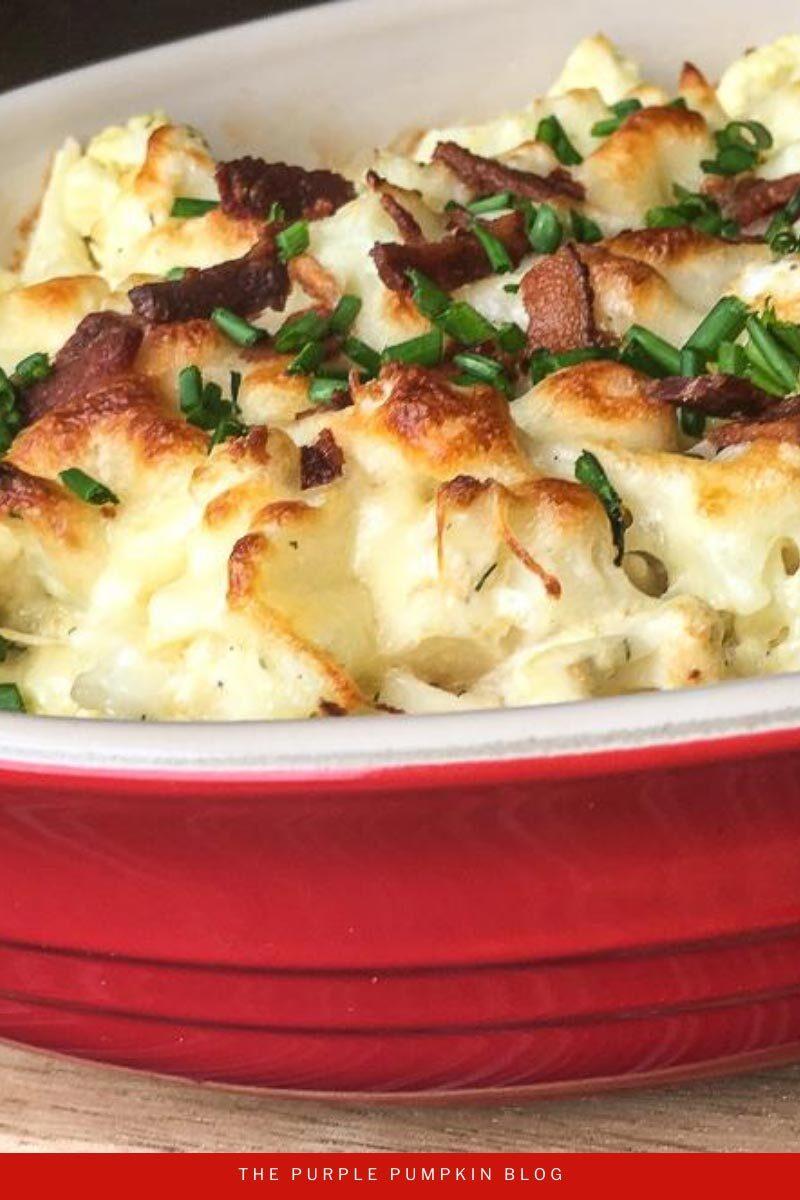 Baked Cauliflower Cheese Casserole