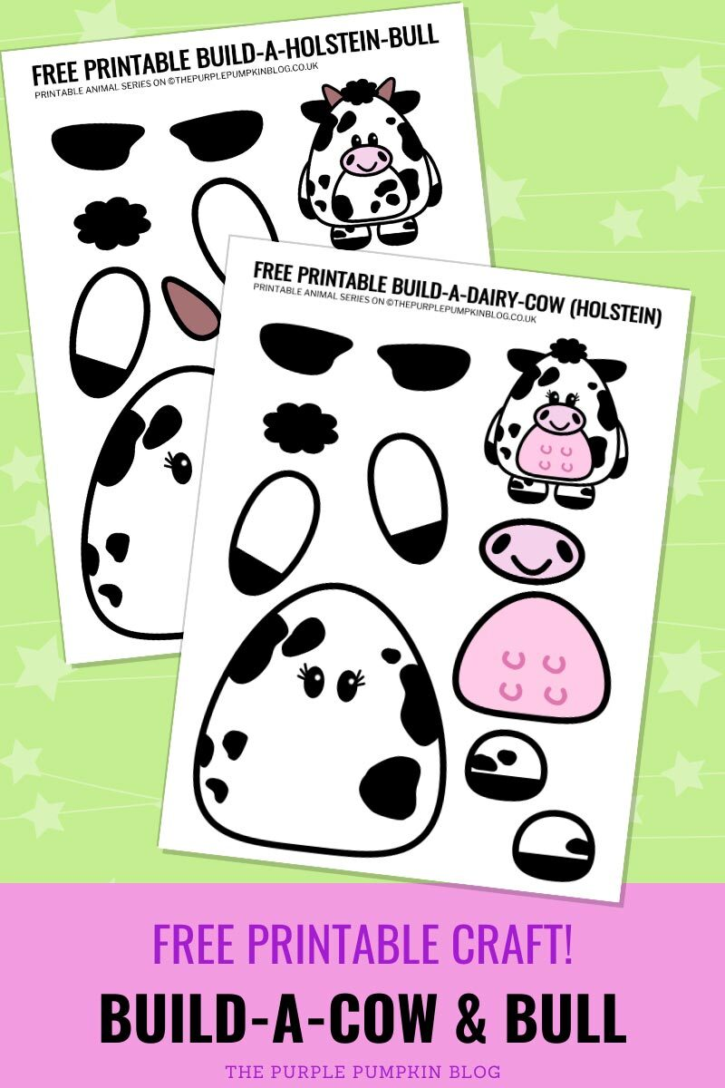 Build A Cow and Bull - Free Printable Craft!