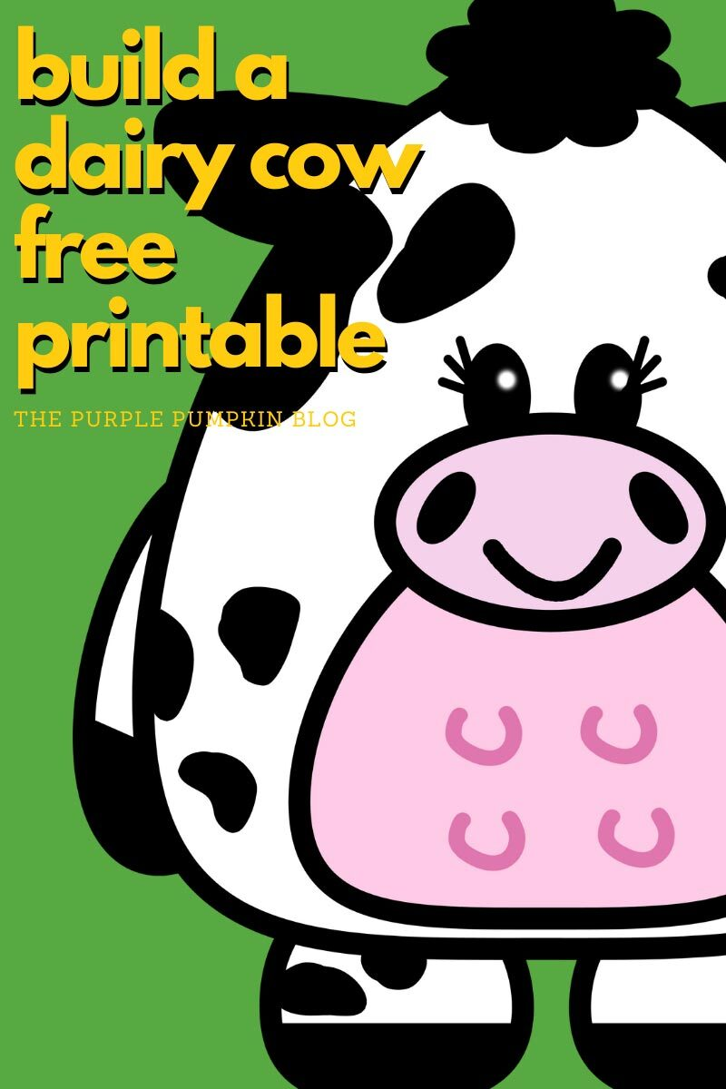 Build a Dairy Cow Free Printable